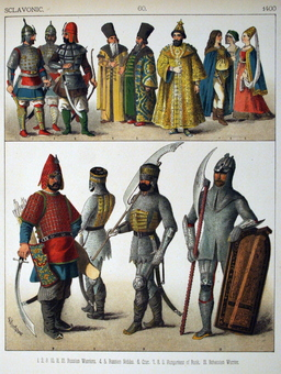 Costumes slaves du quinzième siècle. Source : http://data.abuledu.org/URI/5307b304-costumes-slaves-du-quinzieme-siecle