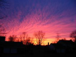Coucher de soleil en hiver. Source : http://data.abuledu.org/URI/546bae85-coucher-de-soleil-en-hiver