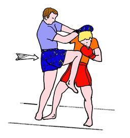Coup de genou en boxe birmane. Source : http://data.abuledu.org/URI/534d94d7-coup-de-genou-en-boxe-birmane