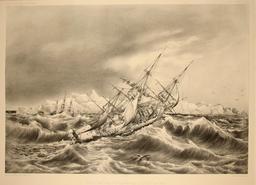 Coup de vent près des îles Powell en 1838. Source : http://data.abuledu.org/URI/59804187-coup-de-vent-pres-des-iles-powell-en-1838