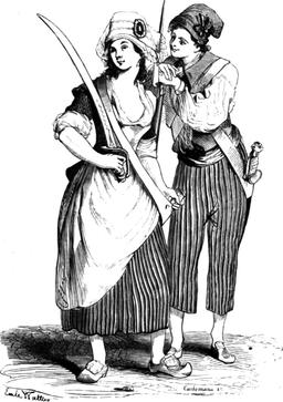 Couple de Sans-culottes. Source : http://data.abuledu.org/URI/50fd3f51-couple-de-sans-culottes