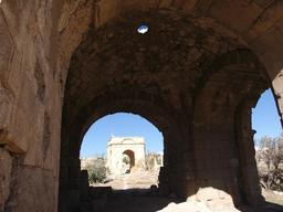 Coupole des Thermes de l'Ouest à Jerash. Source : http://data.abuledu.org/URI/54b596bd-coupole-des-thermes-de-l-ouest-a-jerash