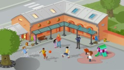 Cour d'école. Source : http://data.abuledu.org/URI/572af673-cour-d-ecole