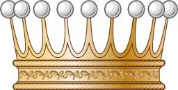Couronne de comte à neuf perles. Source : http://data.abuledu.org/URI/503a9a2b-couronne-de-comte-a-neuf-perles