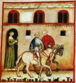 Cours d'équitation au Moyen Age. Source : http://data.abuledu.org/URI/50ca186f-cours-d-equitation-au-moyen-age