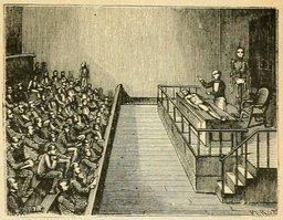 Cours à l'école de médecine au XIXème siècle. Source : http://data.abuledu.org/URI/524f106d-cous-a-l-ecole-de-medecine-au-xixeme-siecle