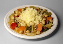 Couscous aux légumes. Source : http://data.abuledu.org/URI/529ef2a6-couscous-aux-legumes