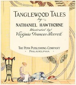 Couverture des Contes de Tanglewood en 1921. Source : http://data.abuledu.org/URI/53ee2c77-couverture-des-contes-de-tanglewood-en-1921