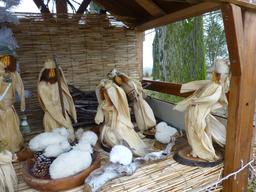Crèche en maïs à Sauveterre-de-Béarn. Source : http://data.abuledu.org/URI/58668fdc-creche-en-mais-a-sauveterre-de-bearn