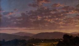 Crépuscule dans les Catskills. Source : http://data.abuledu.org/URI/555671c4-crepuscule-dans-les-catskills