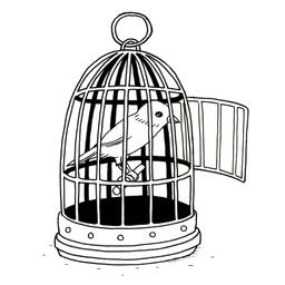 Croquis de canari en cage. Source : http://data.abuledu.org/URI/53fbacfc-croquis-de-canari-en-cage