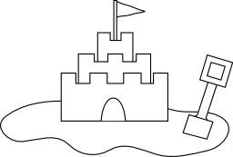 Croquis de château de sable. Source : http://data.abuledu.org/URI/54067194-croquis-de-chateau-de-sable