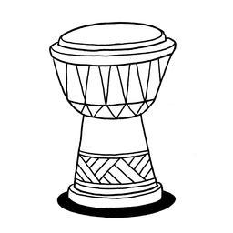 Croquis de djembé. Source : http://data.abuledu.org/URI/54007a74-croquis-de-djembe