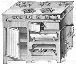 Croquis de gazinière ancienne. Source : http://data.abuledu.org/URI/502a2ce2-croquis-de-gaziniere-ancienne