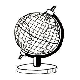 Croquis de globe. Source : http://data.abuledu.org/URI/53fdd90f-croquis-de-globe