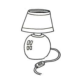 Croquis de lampe de chevet. Source : http://data.abuledu.org/URI/53fdde4f-croquis-de-lampe-de-chevet
