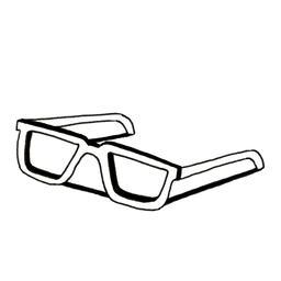Croquis de lunettes de vue. Source : http://data.abuledu.org/URI/53fde551-croquis-de-lunettes-de-vue