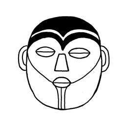 Croquis de masque africain. Source : http://data.abuledu.org/URI/54007e2b-croquis-de-masque-africain