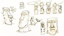 Croquis de Moaïs de l'île de Pâques. Source : http://data.abuledu.org/URI/54ecf116-croquis-de-moais-de-l-ile-de-paques