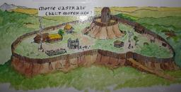 Croquis de motte castrale. Source : http://data.abuledu.org/URI/54b8382f-croquis-de-motte-castrale-