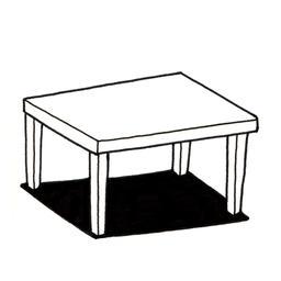 Croquis de petite table basse. Source : http://data.abuledu.org/URI/53fe4b2a-croquis-de-petite-table-basse