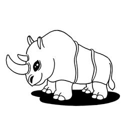 Croquis de rhinocéros. Source : http://data.abuledu.org/URI/5400800c-croquis-de-rhinoceros