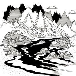 Croquis de rivière en montagne. Source : http://data.abuledu.org/URI/53fe350b-croquis-de-riviere-en-montagne