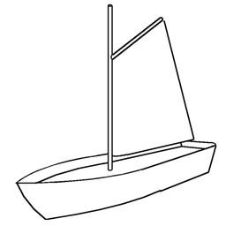 Croquis de voile à corne sur un petit bateau. Source : http://data.abuledu.org/URI/52618280-croquis-de-voile-a-corne-sur-un-petit-bateau