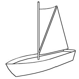 Croquis de voile à livarde sur un petit bateau. Source : http://data.abuledu.org/URI/526180de-croquis-de-voile-a-livarde-sur-un-petit-bateau