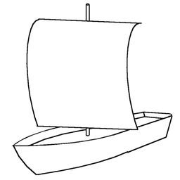 Croquis de voile carrée sur un petit bateau. Source : http://data.abuledu.org/URI/52617aef-croquis-de-voile-carree-sur-un-petit-bateau