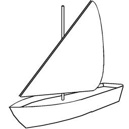 Croquis de voile latine sur un petit bateau. Source : http://data.abuledu.org/URI/52618036-croquis-de-voile-latine-sur-un-petit-bateau