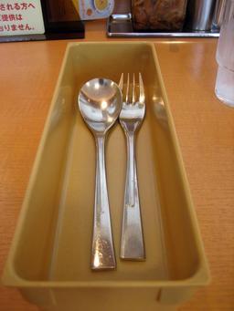 Cuillère et fourchette. Source : http://data.abuledu.org/URI/503a39ed-cuillere-et-fourchette