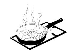 Cuire à la poêle. Source : http://data.abuledu.org/URI/50253dd3-cuire-a-la-poele