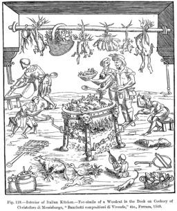 Cuisine italienne en 1549. Source : http://data.abuledu.org/URI/53875f60-cuisine-italienne-en-1549