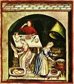 Cuisine médiévale. Source : http://data.abuledu.org/URI/50c880e9-cuisine-medievale