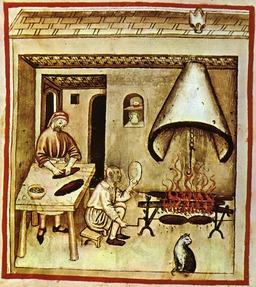 Cuisine médiévale : grillades. Source : http://data.abuledu.org/URI/50c87735-cuisine-medievale-grillades