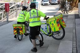 Cyclistes ambulanciers à Belfast. Source : http://data.abuledu.org/URI/530cef64-cyclistes-ambulanciers-a-belfast