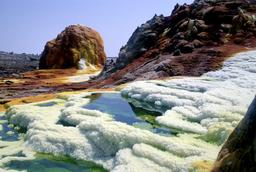 Volcan Dallol en Ethiopie. Source : http://data.abuledu.org/URI/553654e7-dallol