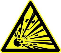Danger de risque d'explosion. Source : http://data.abuledu.org/URI/51be38f3-danger-de-risque-d-explosion