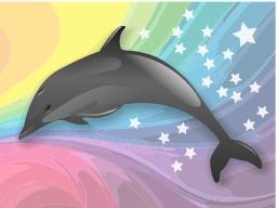 Dauphin dans un arc-en-ciel. Source : http://data.abuledu.org/URI/504b89a5-dauphin-dans-un-arc-en-ciel
