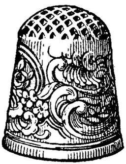 Dé à coudre en or gravé. Source : http://data.abuledu.org/URI/51d9d99b-de-a-coudre-en-or-grave
