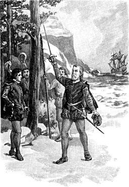 Débarquement de Cabot. Source : http://data.abuledu.org/URI/565717ec-debarquement-de-cabot