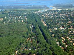 Débouché du canal des étangs dans le Bassin d'Arcachon. Source : http://data.abuledu.org/URI/557d74c1-debouche-du-canal-des-etangs-dans-le-bassin-d-arcachon