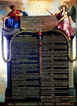 Déclaration des Droits de l'Homme et du Citoyen. Source : http://data.abuledu.org/URI/50728187-declaration-des-droits-de-l-homme-et-du-citoyen