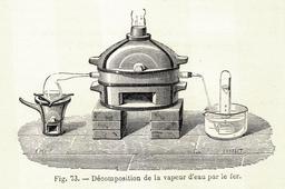 Décomposition de la vapeur d'eau. Source : http://data.abuledu.org/URI/591aaeaf-decomposition-de-la-vapeur-d-eau
