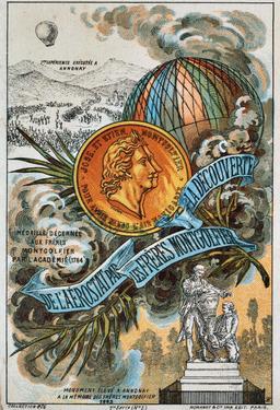 Découverte de l'aérostat par les frères Montgolfier. Source : http://data.abuledu.org/URI/51b03cf2-decouverte-de-l-aerostat-par-les-freres-montgolfier