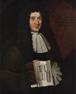 Portrait de Denis Papin en 1689. Source : http://data.abuledu.org/URI/53736c48-denis-papin