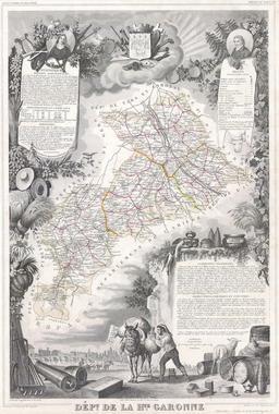 Département de Haute-Garonne en 1847. Source : http://data.abuledu.org/URI/531ca261-departement-de-haute-garonne-en-1847