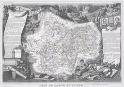 Département de Saône et Loire en 1847. Source : http://data.abuledu.org/URI/531c9e07-departement-de-saone-et-loire-en-1847