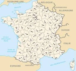 Départements de France métropolitaine. Source : http://data.abuledu.org/URI/50f70b3b-departements-de-france-metropolitaine